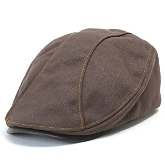 ililily Leather Bill Newsboy Flat Cap Cabbie Gatsby ivy Irish Driver Hunting Hat (flatcap-510-4), Brown