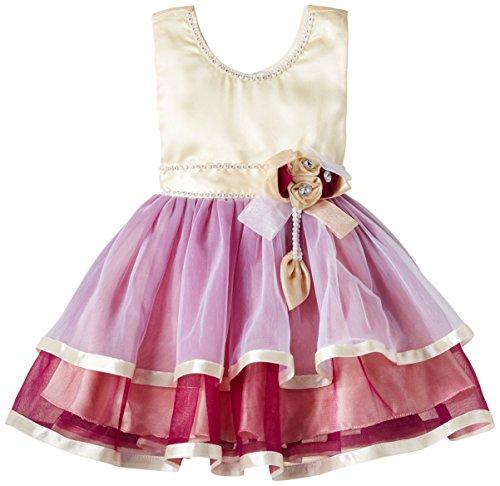 Priyank Baby Girls' Dress (1057Wine_12-18 months)