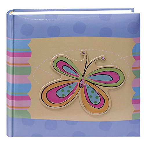 Pioneer Photo Albums 200-Pocket 3-D Striped Butterfly Applique Cover Photo Album, 4 by 6-Inch