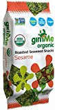GimMe Health Foods Organic Roasted Seaweed Snacks, Sesame, 0.17 Ounce (Pack of 12)