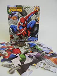 Spider Sense Spider Man Shaped Floor Puzzle 36x24in- Extra Large Spiderman Puzzle