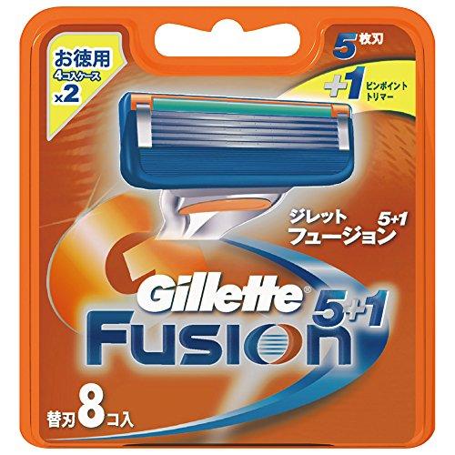 ジレット フュージョン5+1専用替刃 8個入