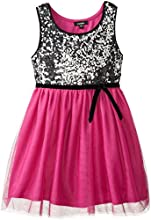 Pinky Big Girls39 Sequin Bodiced Dress with Ribbon Belt