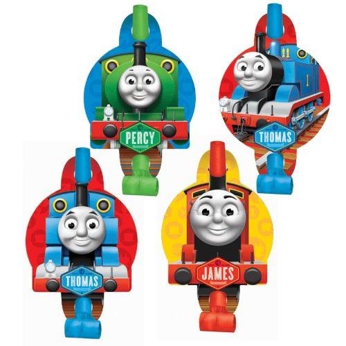 "Amscan Funthomas The Tank Engine Blowouts Birthday Party Favor (8 Piece), 5-1/4 x 3-1/4"", Green - 1"