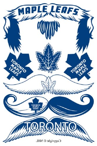 StacheTATS Toronto Maple Leafs Temporary Mustache Tattoos - 1