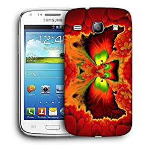 Snoogg Orange Wings Designer Protective Back Case Cover For Samsung Galaxy Core