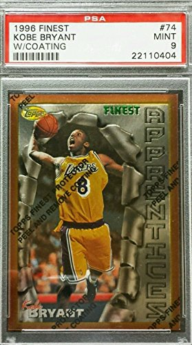 kobe-bryant-1996-97-topps-finest-psa-9-mint-rookie-rc-with-coating-lakers