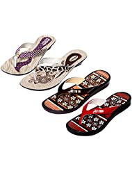 Krocs Super Comfortable Combo Pack Of 2 Pair Flip Flop With 2 Pair Slippers For Women (Pack Of 4 Pair) - B01JS6WN42