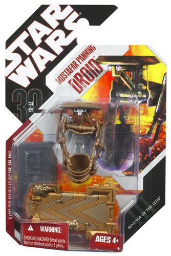 Star Wars Saga 2008 30th Anniversary Wave 1 Action Figure Mustafar Panning Lava Droid - 1