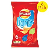 Walkers Lights Variety Crisps 6x6x24g