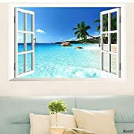 KOREL� Large Removable Beach Sea 3D W…