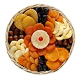 Broadway Basketeers  Gift of Dried Fruit Round Basket (Medium) Gift Basket