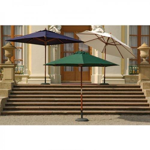 Sonnenschirm 300 x 300 cm, 8-tlg. Bezug natur günstig