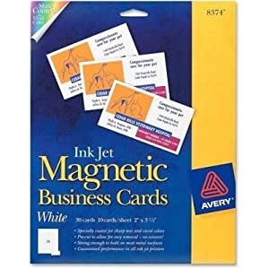 Amazon AVE8374 Ink Jet Magnetic Business Cards by