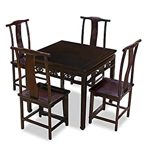 Amazon.com: Hand Carved Ba-Xian Elmwood Table with Four Ming Style