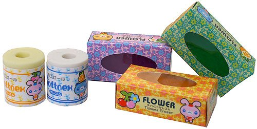 Toilet Paper and Tissue Paper Erasers - 1