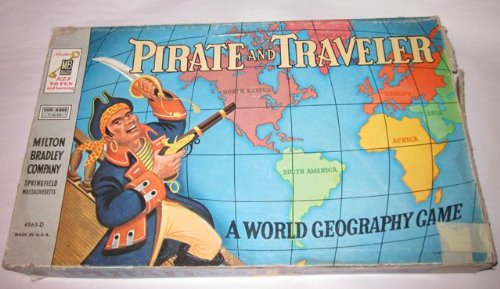 Pirate and Traveler: A World Geography Game Vintage 1954 Edition