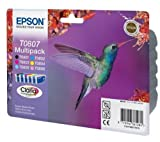 6 Original Printer Ink Cartridges for Epson Stylus Photo PX650 - Cyan / Light Cyan / Magenta / Light Magenta / Yellow / Black