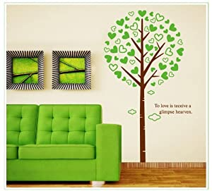OneHouse To Love is Teceive A Glimpse Hearven Quote Big Tall Love Tree Wall Sticker Home Decor by OneHouse