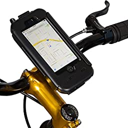 Tigra® BikeConsole iPhone 5/5S Touch ID Waterproof Shock-Protected Bicycle Holder Mount (Touch ID Fingerprint Identity Sensor Compatible)