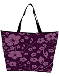 Snoogg Seamless Floral Pattern Abstract Background Waterproof Bag Made Of High Strength Nylon