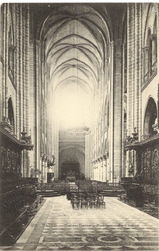 1910 Vintage Postcard Interior View of the Choir