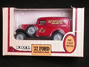 1932 Anheuser Busch Ford Panel Delivery Truck 1/25 Coin Bank by ERTL