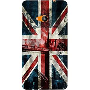 Casotec London Flag wallpaper Design Hard Back Case Cover for Microsoft Lumia 535
