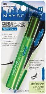 Maybelline New York Define-A-Lash Lengthening Waterproof Mascara, Brownish Black 812, 0.22 Fluid Ounce