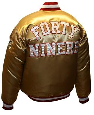 NFL Men's San Francisco 49Ers Prime Gold Satin Jacket