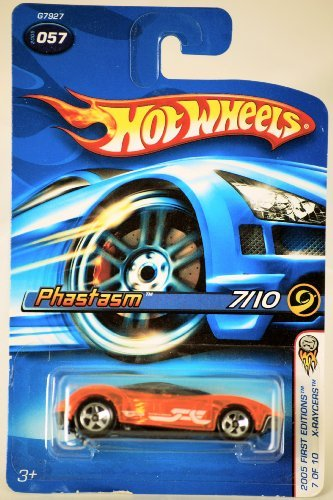 Mattel Hot Wheels 2005 First Editions 1:64 Scale X-Raycers Clear Orange Phastasm Die Cast Car #057