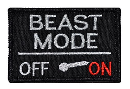 Review Beast Mode Activated 2x3 Military Patch / Morale Patch - Multiple Colors (Black)