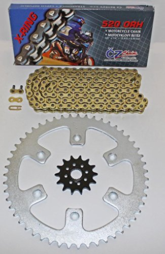 HONDA 04-07 CR125 04-09 CRF250R CZ ORHG GOLD X RING CHAIN & SPROCKET 13/51 114L 270mm motorcycle front wavy floating brake disc rotor for honda cr125 cr250 crf230 crf250x crf250r crf450r crf450x