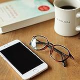 アイウェアエア 40歳からのスマホ老眼鏡 軽量しなやかフレーム ボストン ベッコウ +2.0