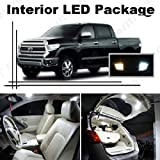 Ameritree Xenon White LED Lights Interior Package + White LED License Plate Kit for Toyota Tundra 2007-2014 (10 Pcs)