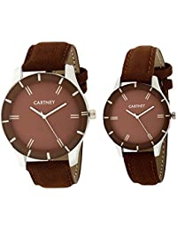 CARTNEY Analog Brown Dial Leather Strap Wrist Watch For Men & Women - WE234G4