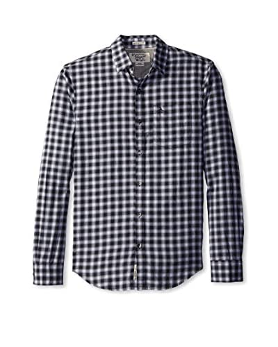 Original Penguin Men's Ombre Plaid Long Sleeve Shirt