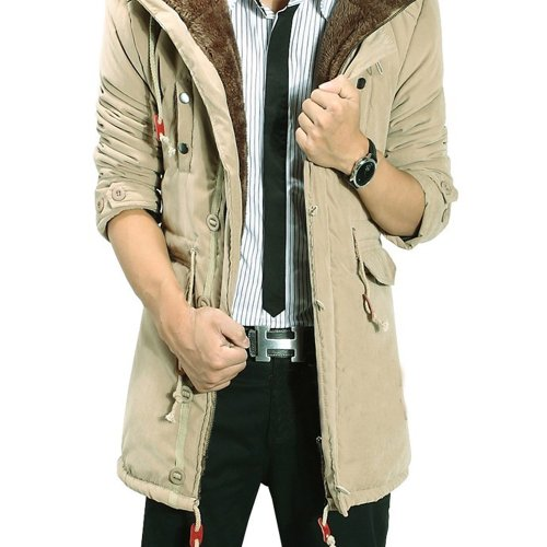 Gift Idea! YYJH Men's Thickened Inner-Fleece Coat, Slim Warm Men's Coat Jacket