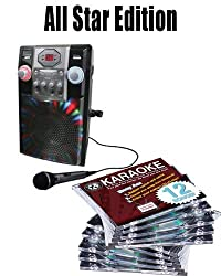 All Star Edition Gpx Karaoke J182 B Free Music (150.00 Value) 10 Chartbuster Discs, 12 Song Custom, Feat. Walt Disney And More The 12 Song Custom Card Has Over 7000 Songs To Choose From (Thats Over 130 Songs)