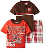 Little Rebels Boys 2-7 Three-Piece Helicopter Rescue Short Set