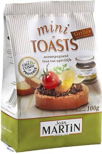 French Mini toast to 9 grains Jean Martin-Mini toasts grilles aux 9 cereales - 100 gr