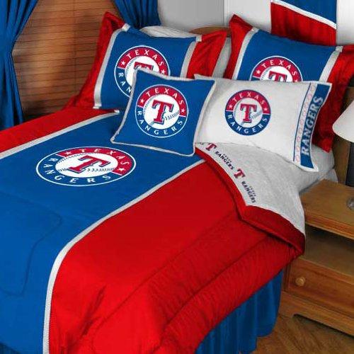 Mlb Texas Rangers King Bedding Set Baseball Team Logo Bed front-839003