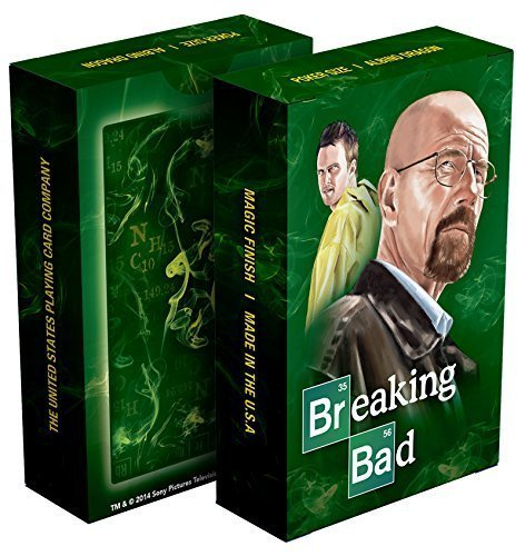 Albino Dragon Breaking Bad Classic Green Playing Cards