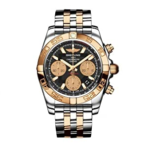 Mens Breitling Steel and Gold Chronomat 41 Watch CB014012/BA53-TT