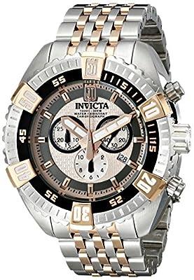 Invicta Men's 16304BWB Jason Taylor Analog Display Swiss Quartz Two Tone Watch