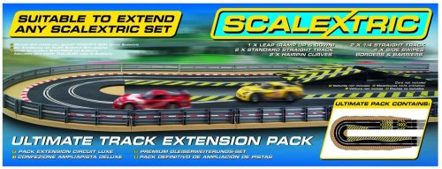 Scalextric C8514 Track Extension Pack Ultimate 1x Leap (Ramp Up and Ramp Down) Straight 2 Hairpin Curves 2x 1/4 Straight 4 Side Swipes
