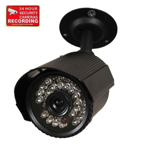 Videosecu Cctv Surveillance Home Audio Video Bullet Security Camera Day Night Vision Ir Outdoor Built-In Microphone 30 Infrared Leds With Free Warning Sticker A42