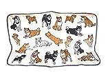 【かわいい柴犬いっぱい】やわらか ブランケット ひざかけ 犬 グッズ 雑貨 マイクロ フリース (柴犬) ランキングお取り寄せ
