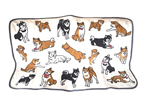 【かわいい柴犬いっぱい】やわらか ブランケット ひざかけ 犬 グッズ 雑貨 マイクロ フリース (柴犬)