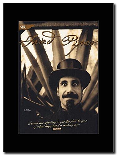 System Of a Down-Serj Tankian precotti Piper Magazine Promo su un supporto, colore: nero